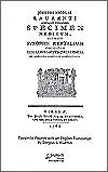 Facsimile Reprint Laurenti (Suppl. 7)